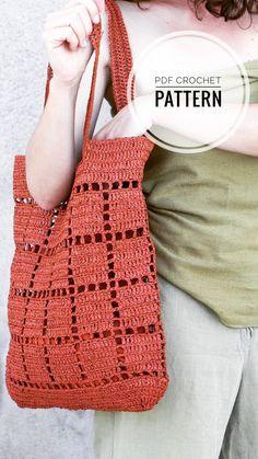Crochet Market Bag, Crochet Tote, Crochet Handbags, Crochet Purses, Cotton Crochet, Love Crochet, Diy Crochet, Crochet Bag Tutorials, Crochet Patterns