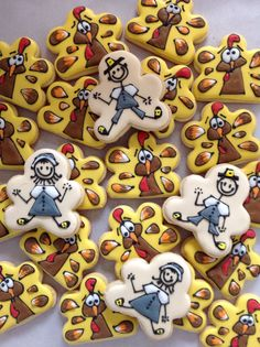 Turkey cookies inspired by Jill's fcs