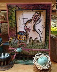 Tim Holtz bunny stamp