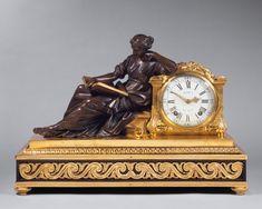 Reloj con Figura de bronce de un modelo de Laurent Guiard (1723-1788) - París, Francia- 1747/60