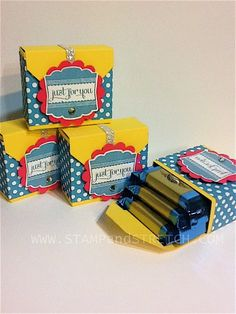 Treat Boxes for Convention by Pammyjo - Cards and Paper Crafts at Splitcoaststampers