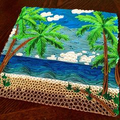 Made to Order Quilled Palm Tree Beach Nature Wall Art