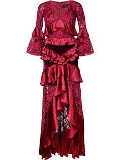 ROMANCE WAS BORN ROMANCE WAS BORN - CRIMSON MAGNOLIA GOWN . #romancewasborn #cloth #gown