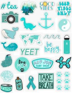 Stickers Cool, Tumblr Stickers, Phone Stickers, Printable Stickers, Surf Stickers, Cute Laptop Stickers, Ron Jon Surf Shop, Homemade Stickers, Aesthetic Iphone Wallpaper
