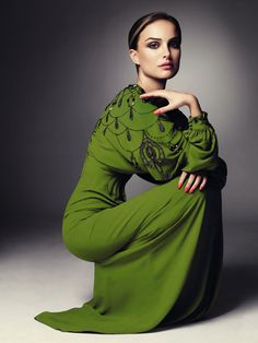 Natalie in green. Imagine The One Thing: Green With Envy www.imaginefashion.com