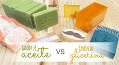 Te explicamos todas las diferencias que existen entre el jabón de glicerina y el jabón de aceite. Cuáles son sus ventajas y cómo trabajarlo.