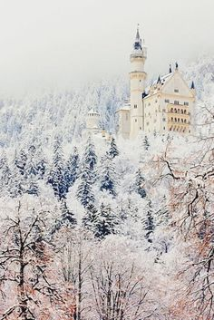 A castle in a winter wonderland! Image Via: This is Glamorous