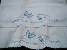 Vintage Pillowcases - Embroidered and Crocheted