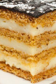 Dessert Cake Recipes, Cheesecake Recipes, No Bake Desserts, Delicious Desserts, Polish Cake Recipe, Baking Recipes, Snack Recipes, Honey Cake, Homemade Cakes