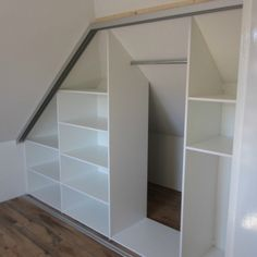 Bedroom Storage Ideas For Clothes, Bedroom Storage For Small Rooms, Attic Storage, Closet Ideas, Bedroom Organization, Organization Ideas, Library Organization, Small Bedrooms, Corner Closet