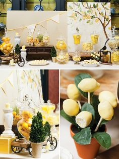 Lemon & Tuscany Inspired Breakfast Bridal Shower