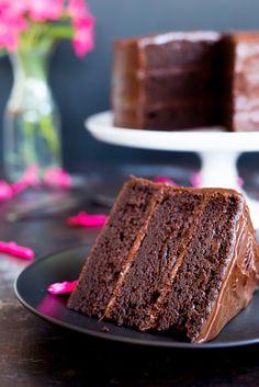 Gluten Free Three Layer Chocolate Cake