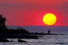 Sunset on the point. Photo by Monica Orchard, Collingwood, ON.