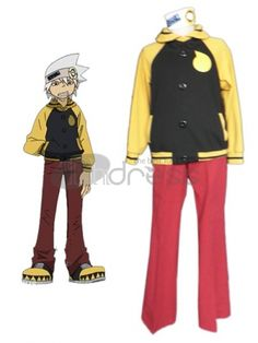 SOUL Cotton Polyester Cosplay Costumes,While the popularity and origins of COSPLAY have come under intense scrutiny over the past ten years, adults who wish to partake of the ghoulish fun are seeking the right costume for just the right occasion.So how do you go about picking something unique and different (because of course you want to stand out)? This Soul Eater cosplay costume seems cold but gentle inner and gives you a reason to love music.