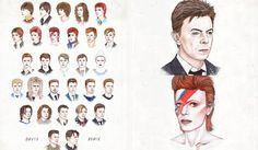 David Bowie's hair styles
