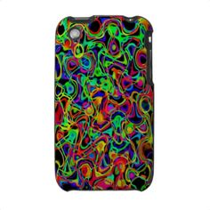 Colored Strings Abstract iPhone 3g Case