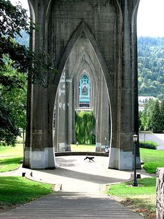 Cathedral Park Portland, Oregon.