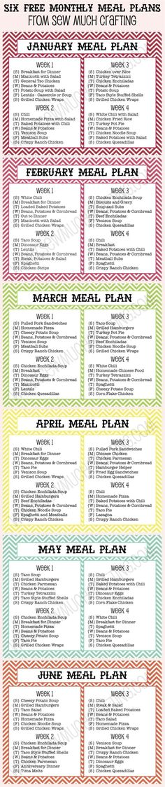 Six FREE Monthly Meal Plan Printables - a decent starting point to tweak for our gf family by fsdsfds by marva Planning Menu, Monthly Meal Planning, Meal Planning Printable, Meal Planner, Monthly Menu, Family Meal Planning, Fitness Planner, Weekly Menu, The Plan