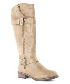 Look what I found on #zulily! Taupe Double-Buckle Eny Boot by Bella Marie #zulilyfinds