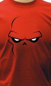 Camiseta Caveira Vermelha Face