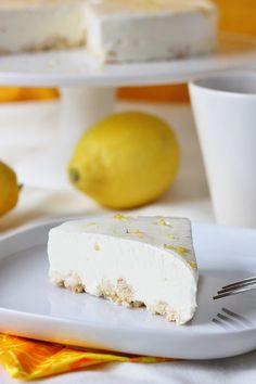 Suklaapossu: Sitruunajuustokakku ilman liivatetta
