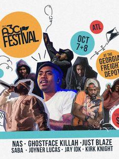 Nas, Ghostface Killah And Just Blaze To Headline Atlanta's A3C Festival. Click the link below to see full details guys.  http://feelindamuzic.blogspot.com/2017/05/nas-ghostface-killah-and-just-blaze-to.html