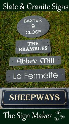 Purbeck Stone, The Brambles, Standard Image, Slate Signs, Sign Maker, Home Signs, Just The Way, Clear Acrylic, Granite