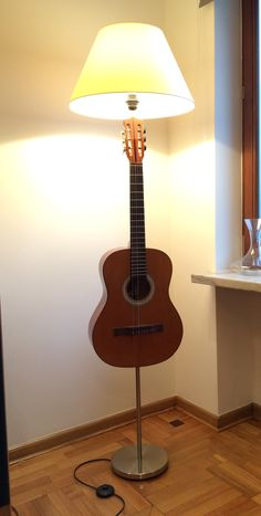 My first ikea hack knippe coat stand and floor lamp my 70s guitar upcycled aloadofball Image collections