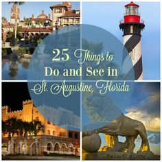 Things to Do and See in St. Augustine Florida - 25 Things to Do and See in St. Augustine Things to Do and See in St. Visit Florida, Florida Vacation, Florida Travel, Vacation Places, Florida Beaches, Vacation Destinations, Dream Vacations, Vacation Spots, Travel Usa