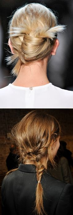 HAIR INSPIRATION - BRAIDED MESSY TOUSLED PONYTAILS