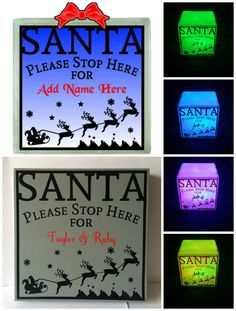 Santa Please Stop Here...SVG MTC FCM formats included....Commercial Use Allowed by CraftaholicCreation on Etsy