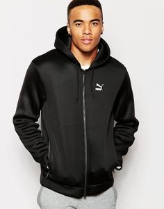 "Hoodie by Puma Lightweight, bonded mesh Drawstring hood Logo print to chest Zip opening Side pockets Zip to reverse Regular fit - true to size Machine wash 100% Polyester Our model wears a size Medium and is 185.5cm/6'1"" tall"