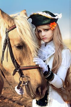 Costumery and a horse.