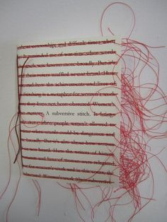 A Subversive Stitch - artists book by Fiona Dempster / Paper Ponderings 2012