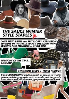 Custom Made Accessories & Apparel Floppy Hats, Winter Colors, Fashion Colours, Custom Clothes, Pantone, Winter Fashion, Fall Winter, Private Label, Style