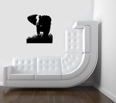Housewares Vinyl Decal African Elephant Animal Home Wall Art Decor Removable Stylish Sticker Mural Unique Design for Nursery Room Perfectly for any clean, smooth and flat surface.. It is made of high-quality vinyl material. Please choose 1 color you want from our color chart.Or the decal will be shipped in Black. The size of this decal is 22''x28'' or 56x71cm. The decal is fully removable.  #Home_Improvement