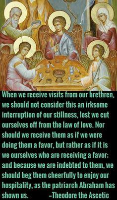 Theodore the Ascetic Catholic Quotes, Religious Quotes, Christian Faith, Christian Quotes, Law Of Love, Spiritual Words, True Faith, Saint Quotes, Religious Images