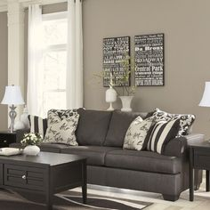 Features:  -Four accent toss pillows included as shown and feature feather…