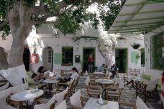 Cafeteria in Paros island