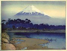 hanga gallery . . . torii gallery: Fujiyama, First Light of the Sun by Hiroshi Yoshida