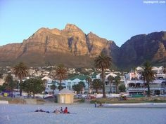 Spectacular Camps Bay Beach with Table Mountain Backdrop visit Cape Spirit for more photos. Most Beautiful Cities, Beautiful Beaches, Camps Bay Cape Town, Table Mountain, Mountain Range, Namibia, Cape Town South Africa, South Beach Miami, Places To See