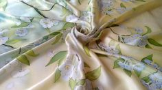 floral silk scarf square spring gift for women by Batikrosa