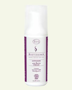 Biotissima Anti Age Spots Cream inhibits the production of melanin and helps reduce the dark spots and age spots on your skin: http://lifecare.eu.com/product/biotissima-bio-certified-anti-age-spots-cream/.