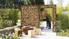 Cozy Backyard, Firewood, Home And Garden, Outdoor Structures, Interior, Outdoor Decor, Gardening, Pergola, Gardens