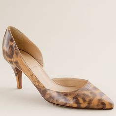 """J. Crew Leopard Valentina Pumps EUC. Barely any wear on these beauties! Lovely midheel that is super versatile. Patent leather. 2 3/4"""" high. J. Crew Shoes Heels"""
