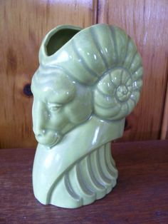 SALE Unique 1940s Antique Art Deco Pottery Ram by stonecottagemill, $55.00
