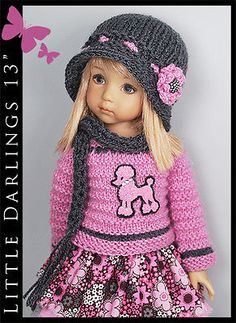 Pink-Dark-Gray-Outfit-for-Little-Darlings-Effner-13-by-Maggie-Kate-Create