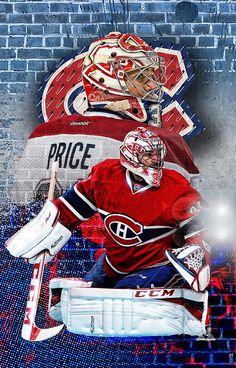 Carey Price Montreal Canadiens NHL Fridge Magnet Size x Hockey Goalie, Field Hockey, Hockey Teams, Hockey Players, Ice Hockey, Montreal Canadiens, Nhl Wallpaper, Pens Hockey, Sports Graphic Design