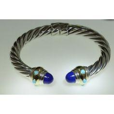 David Yurman Renaissance Bracelet w/Lapis & Turquoise
