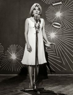 France Gall, winner of the Eurovision Song Contest 1965 in Naples for Luxembourg